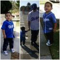 Sergio Sr. and Sergio Jr. Getting ready for the Dodger game.. 2017