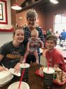 With our 3 grandchildren. Sydney, Alice and Reilly
