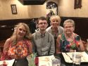 my youngest son's college graduation dinner with my sister and mother