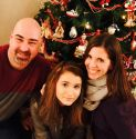 Christmas with my wife and daughter.