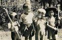 1940'S IRVING STREET: L-R: Ed Yush, me, Owen Jr. Johnson, Bob Zabel
