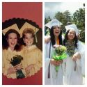Our graduation and our girls mimicking our picture. Crazy kids