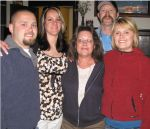 my son John David, his wife Courtney M. , my wife Connie ( keillor ) , John, my daughter Courtney N.