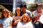 At Astroworld: Debi Cobey, Sharon Pickering and me with two guy friends