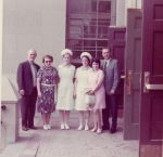 Capping ceremony Curtis HS June 1972. Isabella Palumbo and Diana Javaruski with parents