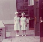 Isabella (Morris) and Diana (Jvaruski) nursing capping ceremony 1972 Curtis HS
