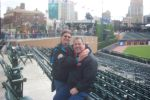 Me and Hubby at Tigers Stadium