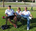 Ed Rios, Linda Mangum, Dan Hawkins - IHS/MHS pre game 9/2011