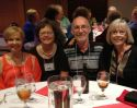 Debbie Marzolf Cooke, Marsha Hayslett Miller, Larry McGinnis, Barb McConnell McGinnis @ 45th class reunion.