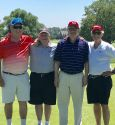 A day of golf with H.S buddies; Tom Conway ('64'), Mark Garber ('65), Doug Catalano ('65), Weldon Clears ('65)