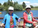 Valerie Jessop Hanseth and Joanne riding bikes at Sunriver.