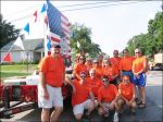 WHS Class of 1978 - 30th reunion Homecoming Float - Aug 23, 2008; Standing: Jay Mueller, Kathy Shaeffer, Cindy Rehmer, Karen Hirsch, Mike Kern, Heidi Meister, Gary Mehrtens, Bryan Garcia, Shawn Wilson; Kneeling: Rick Schutt, unknown, Randy Jones, unknown